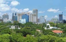 Horizonte del Fort Lauderdale céntrico Imagen de archivo libre de regalías