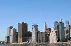 Horizonte del Lower Manhattan foto de archivo