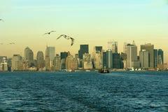 Horizonte del Lower Manhattan imágenes de archivo libres de regalías