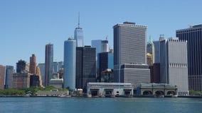 Horizonte del Lower Manhattan en New York City Foto de archivo