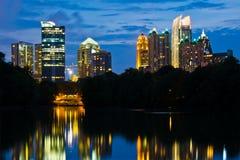 Horizonte del Midtown de Atlanta Imagen de archivo libre de regalías