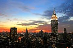 Horizonte del Midtown de New York City imagen de archivo