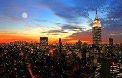 Horizonte del Midtown de New York City Fotografía de archivo libre de regalías