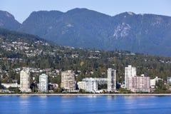 Horizonte del oeste de Vancouver Fotos de archivo