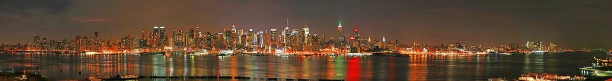 Horizonte del panaroma de Manhattan Imagenes de archivo