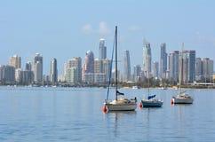 Horizonte del paraíso de las personas que practica surf - Gold Coast Queensland Australia Imagen de archivo
