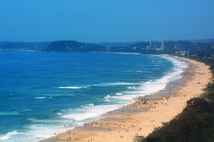 Horizonte del paraíso de las personas que practica surf - Queensland Australia Imagen de archivo
