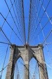 Horizonte del puente y de Manhattan de Brooklyn Fotos de archivo libres de regalías