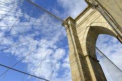 Horizonte del puente y de New York City de Brooklyn fotos de archivo