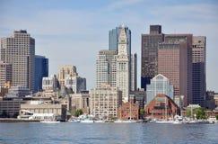 Horizonte del puerto de Boston, los E.E.U.U. Imagen de archivo