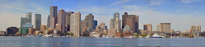 Horizonte del puerto de Boston, los E.E.U.U. Fotografía de archivo libre de regalías