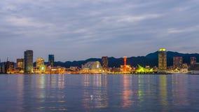 Horizonte del puerto de Kobe, Japón almacen de video