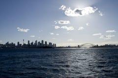 Horizonte del puerto de Sydney Foto de archivo libre de regalías