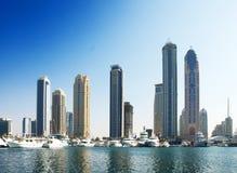 Horizonte del puerto deportivo de Dubai Fotos de archivo