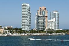 Horizonte del sur de la playa de Miami fotos de archivo