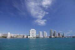 Horizonte del sur de Miami de la playa imagen de archivo libre de regalías