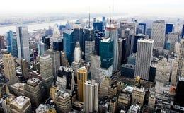 Horizonte del Times Square Imagenes de archivo