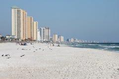 Horizonte del vista de la Florida de la playa de ciudad de Panamá fotos de archivo