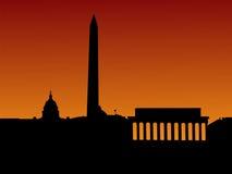 Horizonte del Washington DC ilustración del vector