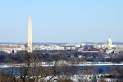 Horizonte del Washington DC en invierno Imagenes de archivo