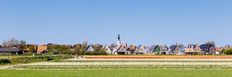 Horizonte Den Hoorn Texel los Países Bajos Fotografía de archivo
