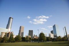 Horizonte detrás del parque olímpico centenario en Atlanta céntrica, Geor fotos de archivo