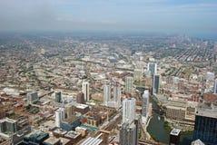 Horizonte diurno en Chicago Imagenes de archivo
