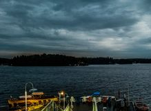 Horizonte do lago imagens de stock
