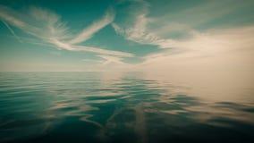 Horizonte e céu de mar bonito da noite do seascape Imagens de Stock Royalty Free