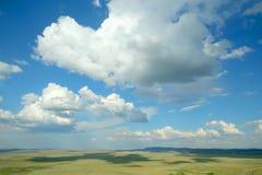 Horizonte e nuvens Imagens de Stock Royalty Free
