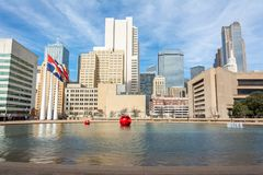 Horizonte en Dallas céntrica, TX foto de archivo