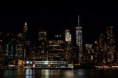 Horizonte en la noche Fotos de archivo libres de regalías