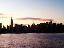 Horizonte en la puesta del sol Imagen de archivo libre de regalías