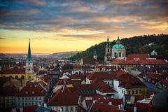 Horizonte en la República Checa de Praga Foto de archivo