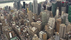 Horizonte en tiempo real del tiro ancho de los edificios del horizonte de New York City Manhattan, ULTRA HD 4K,