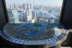 Horizonte en Tokio vista desde arriba del rascacielos Foto de archivo