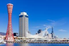 Horizonte famoso del puerto de Kobe, Japón Imagen de archivo libre de regalías