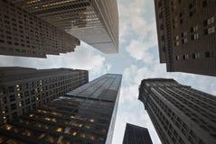 Horizonte financiero céntrico del districto de Nueva York Fotografía de archivo