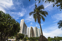 Horizonte financiero del distrito de ciudad de Panamá Imagenes de archivo