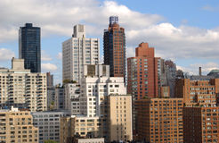 Horizonte genérico de New York City imagen de archivo