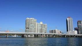 Horizonte Gold Coast Australia del puente y de Southport de Sundale metrajes