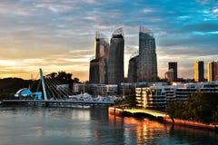 Horizonte HDR de los edificios de Singapur Imagen de archivo libre de regalías