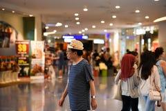 Horizonte HDR de los edificios de Singapur Foto de archivo libre de regalías