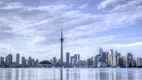 Horizonte HDR de Timelapse Toronto almacen de metraje de vídeo