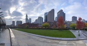 Horizonte hermoso de Boston Fotos de archivo libres de regalías