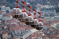 Horizonte hermoso de Grenoble del Bastille, Francia imagen de archivo libre de regalías