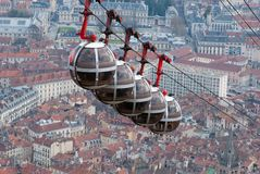 Horizonte hermoso de Grenoble del Bastille, Francia Fotografía de archivo libre de regalías