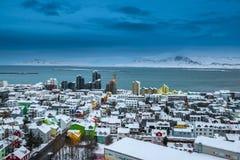 Horizonte hermoso de la ciudad de Reykjavik Fotografía de archivo