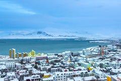Horizonte hermoso de la ciudad de Reykjavik Imagenes de archivo
