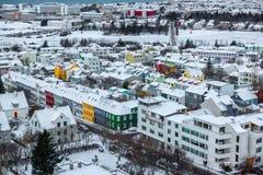 Horizonte hermoso de la ciudad de Reykjavik Fotos de archivo
